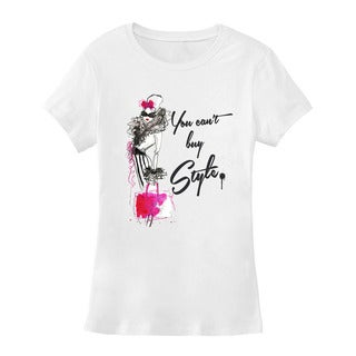 "BY Jodi Women's Slim Fit ""BUY STYLE"" Graphic T-Shirt"