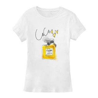 "BY Jodi Women's Slim Fit ""coco"" Graphic T-Shirt"
