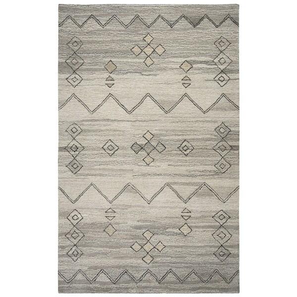 Hand-tufted Suffolk Grey Moroccan Wool Area Rug (10' x 13')