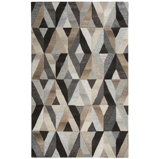 Hand-tufted Suffolk Geometric  Wool Area Rug  (10' x 13')