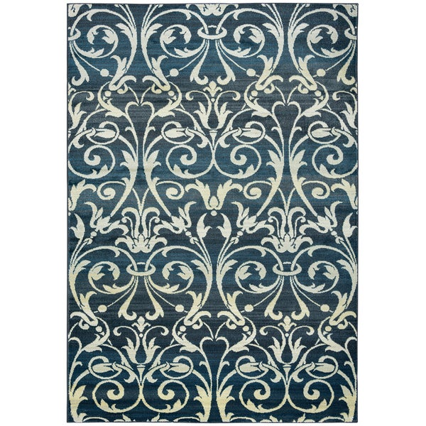 Power Loomed Double Pointed Designs Sorrento Grey/ Charcoal Trellis Area Rug (9' 10x12' 6)