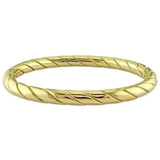 Miadora Signature Collection 18k Yellow Gold Twist Bangle Bracelet