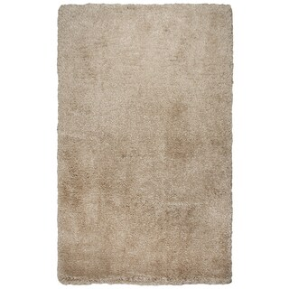 Hand-tufted Commons Champagne Solid Polyester Area Rug  (8' x 10')