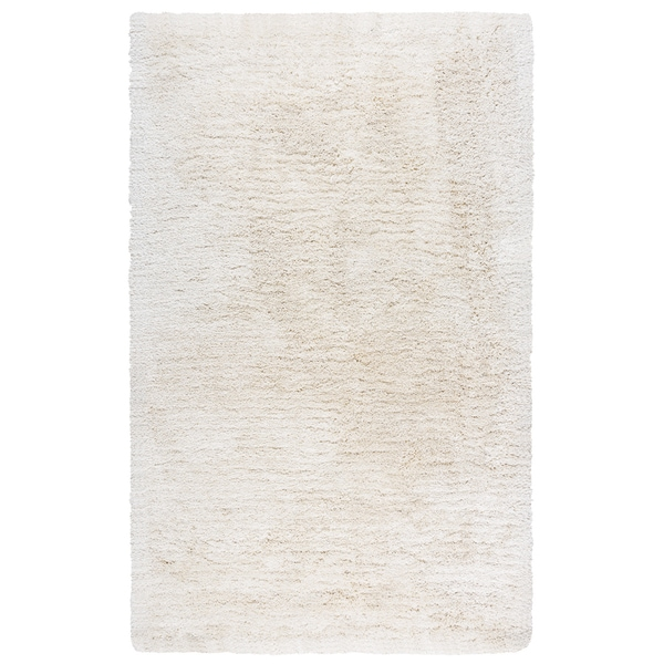 Hand-Tufted Commons Ivory Solid Polyester Area Rug (9' x 12')