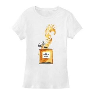 BY Jodi Women's Slim Fit 'yellow splash 1' Graphic T-Shirt