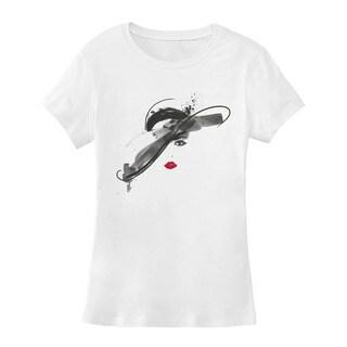 BY Jodi Women's Slim Fit 'wide brim' Graphic T-Shirt