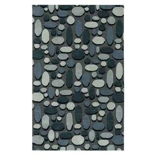Evening Shade Rectangle Charcoal Hand Tufted Rug (9' x 12')