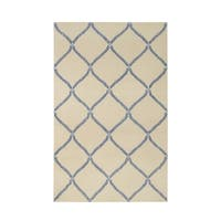 Williamsburg Parable Rectangle Blue Hand Knotted Rug - 5' x 8'