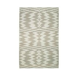 Genevieve Gorder Junction Rectangle Beige Flat Woven Rug (5' x 8')