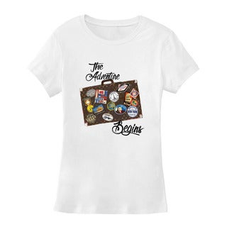 "BY Jodi Women's Slim Fit ""The adventure"" Graphic T-Shirt"