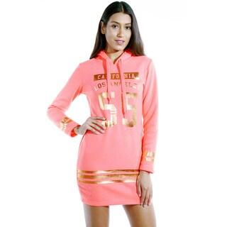 Special One Women's Casual Mini Dress Hoodie Sweatshirt