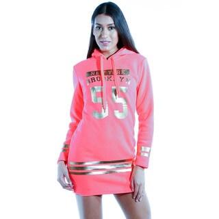 Special One Women's Cotton-blend Casual Mini-dress Hoodie Sweatshirt
