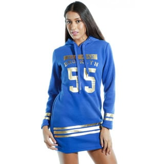 Special One Women's Cotton-blend Casual Mini-dress Hoodie Sweatshirt