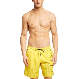 Hugo Boss Killifish Yellow Logo Swim Trunks