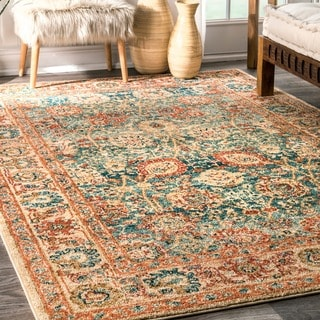 nuLOOM Traditional Oriental inspired Floral Vine Rug  (5' x 7'5)