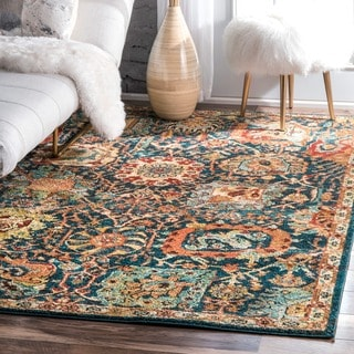 nuLOOM Traditional Oriental inspired Floral  Rug (8' x 10')