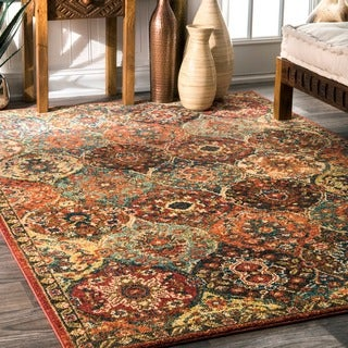 nuLOOM Traditional Oriental inspired Trellis  Rug (8' x 10')