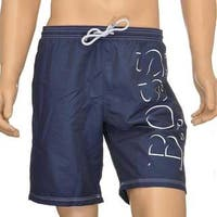 Hugo Boss Men's Killifish Navy Logo Swimtrunks