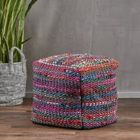 Christopher Knight Home Madrid Fabric Pouf