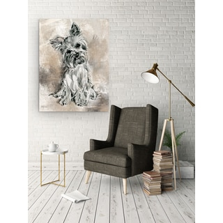 Wexford Home Sketchy Study Yorkie Gallery-wrapped Canvas Wall Art