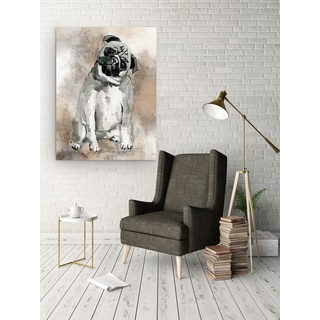 Wexford Home Sketchy Study Pug Gallery-wrapped Canvas Wall Art