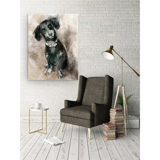 'Sketchy Study Dachshund' Premium Gallery-wrapped Canvas Wall Art