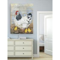 Wexford Home Farmhouse Chicken Premium Gallery-wrapped Canvas (3 Sizes Available)