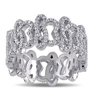 Miadora Signature Collection 14k White Gold 1ct TDW Diamond Abstract Design Ring (G-H, SI1-SI2)