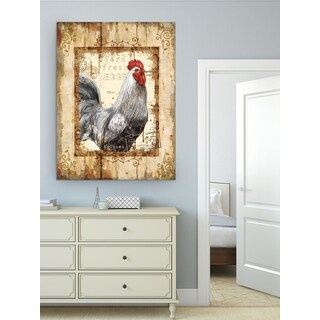 Wexford Home Farm Fresh Rooster Gallery-wrapped Canvas Wall Art