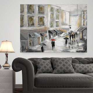 Wexford Home 'Sunday Market' Premium Gallery Wrapped Canvas Available in 3 Sizes
