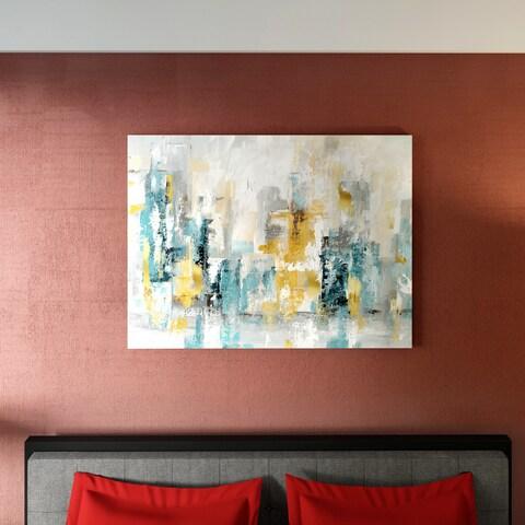 Porch & Den 'City Views II' Premium Gallery Wrapped Canvas Wall Art