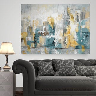 living room wall art printable wexford home city views i premium gallery wrapped canvas wall art abstract shop our best goods deals online at