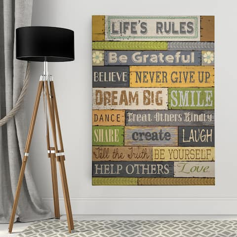'Life's Rules' Premium Gallery-wrapped Canvas Wall Art