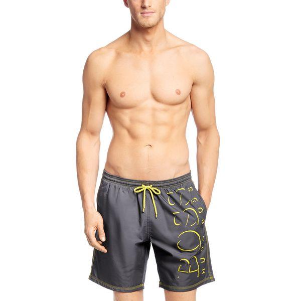 69880f9983 Shop Hugo Boss Men's Killifish Grey Logo Swim Trunks - Free Shipping ...
