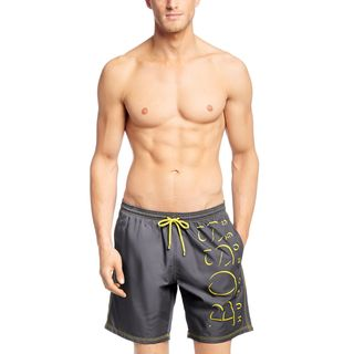 Hugo Boss Men's Killifish Grey Logo Swim Trunks