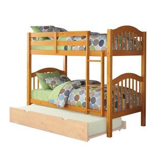 ACME Heartland Twin over Twin Bunk Bed, Honey Oak