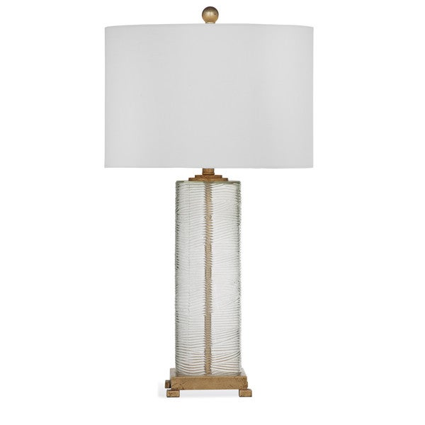 Maroa 35 Inch Gold And Clear Glass Table Lamp