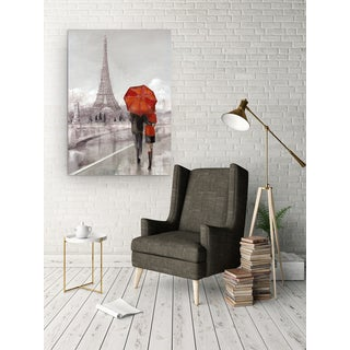 Wexford Home 'Modern Couple In Paris' 3 Sizes Available Premium Gallery Wrapped Canvas