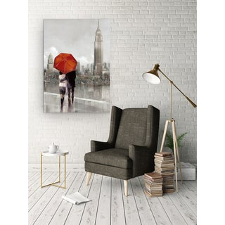 'Modern Couple In NY' Premium Gallery Wrapped Canvas Art