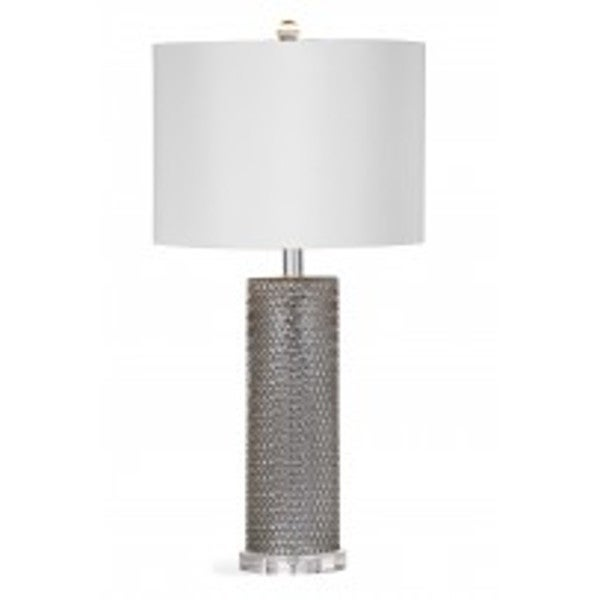Nina 28-inch Silver Glass Table Lamp