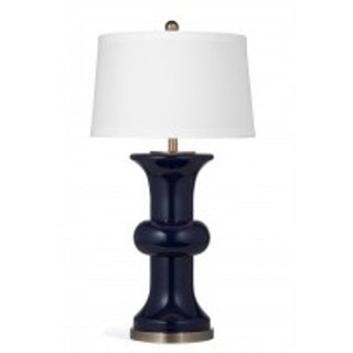 Vince 32-inch Black Glass/Metal Table Lamp