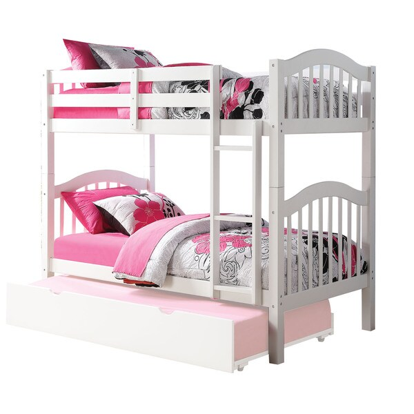 Shop Acme Furniture Heartland White Twin Over Twin Bunk Bed Free