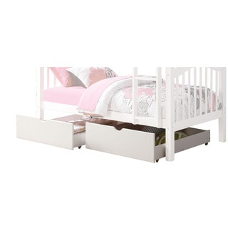 acme furniture heartland white twin over twin bunk bed