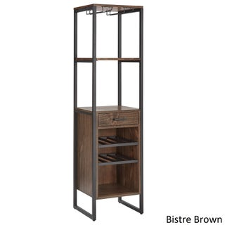 Annata Metal and Wood Wine Tower by iNSPIRE Q Classic (3 options available)