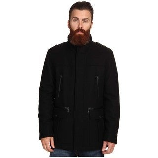 Cole Haan Men's Black Wool Car Coat