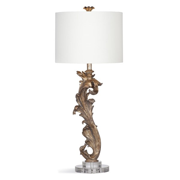 Adrianna 34-inch Silver Resin Table Lamp