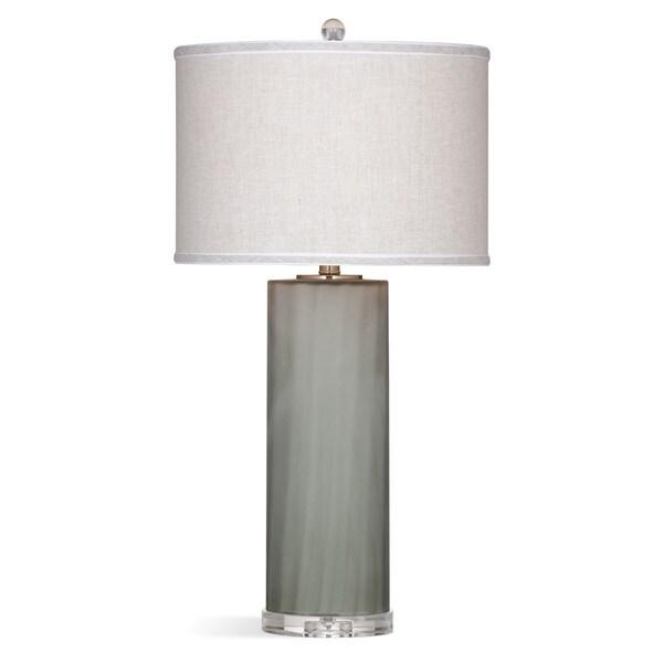 Hanna 29-inch Grey Glass Table Lamp