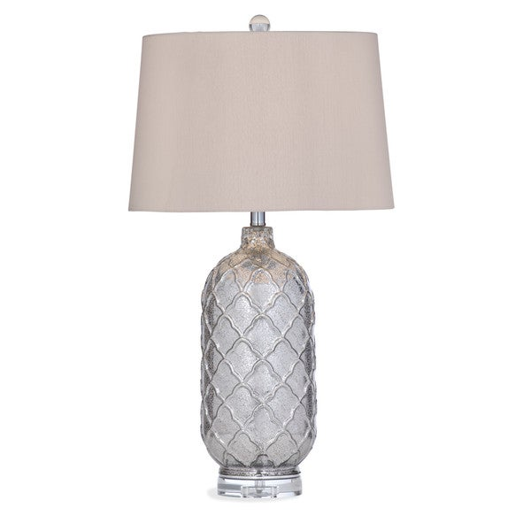 Sarana 31-inch Silver Glass Table Lamp