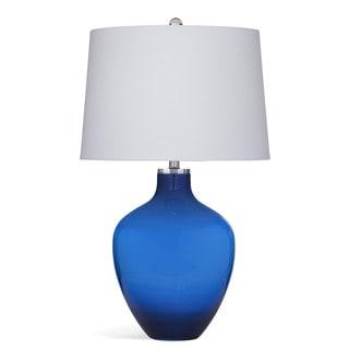 Kanna 30-inch Clear Silver Ceramic Table Lamp