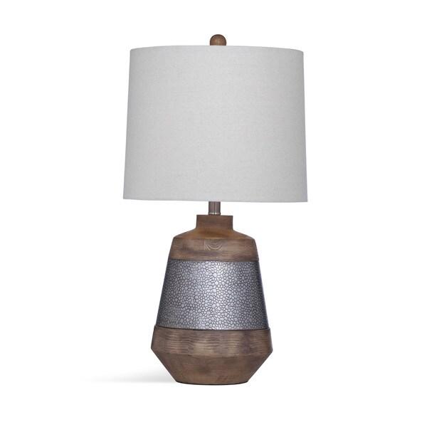 Harrel 28-inch Brown Metal/Crystal Table Lamp
